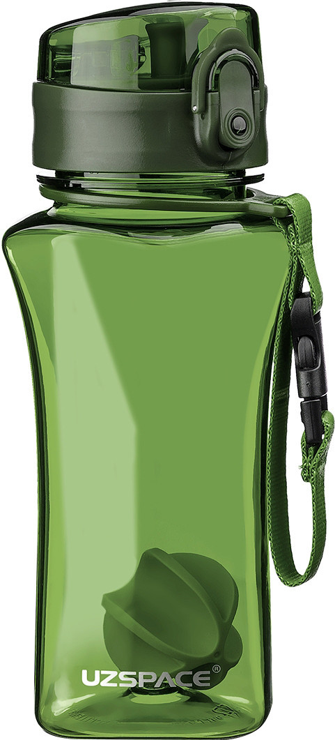 Пляшка фляга спортивна для води UZspace 6005 350 мл Зелений (gr_012062)