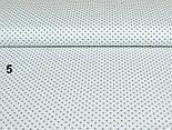 Ткань с серым  горошком 4 мм на белом фоне (№5)., фото 3
