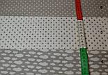 Ткань с серым  горошком 4 мм на белом фоне (№5)., фото 4