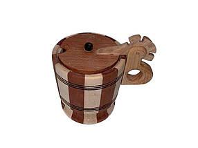 Цукорниця дерев'яна з кришкою