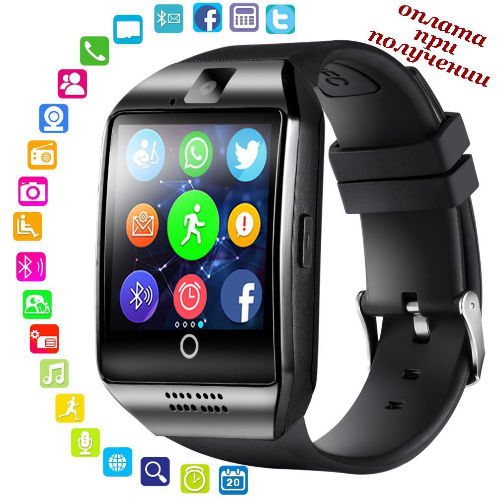 Умные Smart Watch смарт фитнес браслет часы трекер Q18 ПОШТУЧНО на РУССОКОМ в стиле SAMSUNG Apple Series Watch