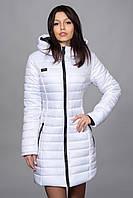 Зимняя женская молодежная куртка. Код К-63-12-16. Цвет белый.