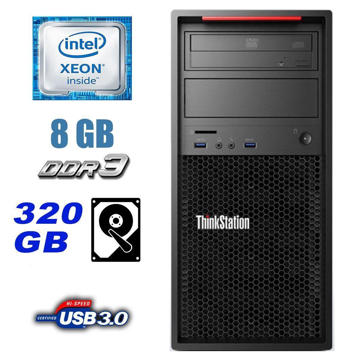 Lenovo ThinkStation P300 / Intel Xeon E3-1220 v3 (4 ядра по 3.1-3.5GHz) / 8 GB DDR3 / 320 GB HDD / nVidia