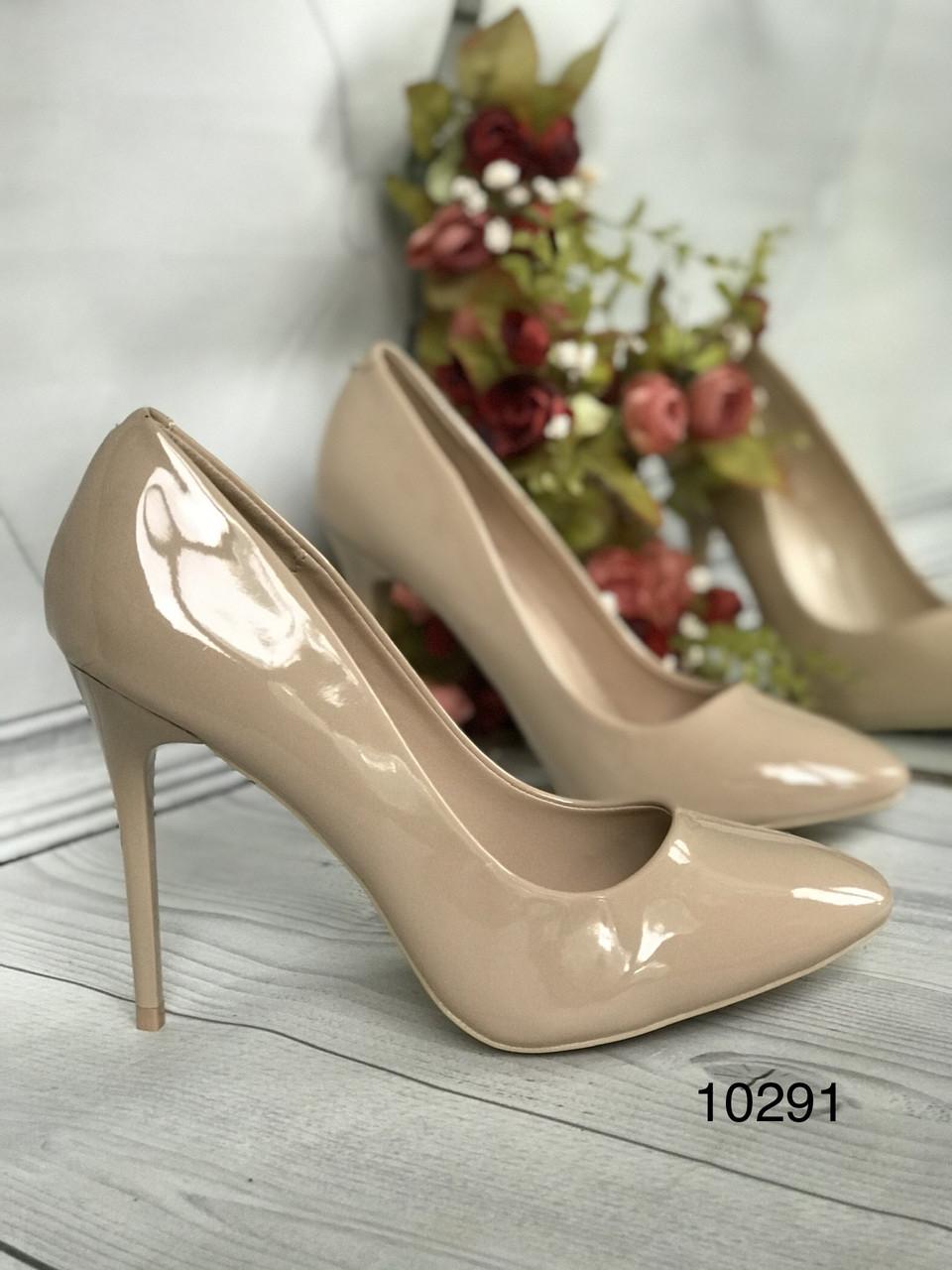 Туфлі жіночі класичні  бежеві,лакові