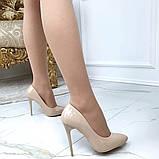 Туфлі жіночі класичні  бежеві,лакові, фото 2