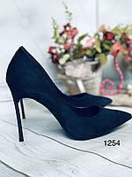 Синие туфли лодочки в наличии,шпилька.., фото 1