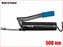 Ручной шприц для смазки с двумя насадками 500 мл Vorel 78047