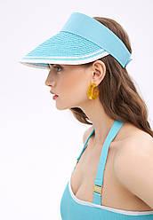 Faberlic Козирок солом'яний колір аквамарин арт 600676