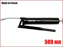 Ручной шприц для смазки с твердой насадкой 500 мл Yato YT-0700