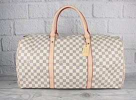 Сумка дорожная кожа PU молочная Louis Vuitton 41412