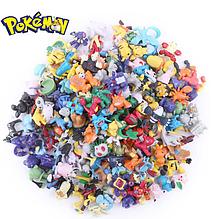 Набор фигурок Покемон 144 шт из Аниме комиксов, игры Pokemon GO: Пикачу, Иви, Мьюту, Бульбазавр, 2-3см