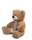 Плюшевый мишка Сеня с шарфом 90 см цвет персиковый   Плюшевый медведь   Мягкая игрушка мишка от производителя, фото 3