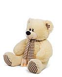 Плюшевый мишка Сеня с шарфом 90 см цвет персиковый   Плюшевый медведь   Мягкая игрушка мишка от производителя, фото 4