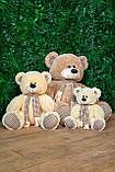 Плюшевый мишка Сеня с шарфом 90 см цвет персиковый   Плюшевый медведь   Мягкая игрушка мишка от производителя, фото 7
