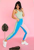 Женские штаны джогеры разноцветные  Crep - пудра цвет, L (есть размеры), фото 1