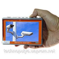 Видеотестер - портативный монитор Pomiacam IV5 для настройки видеокамер до 8 Мп 4в1: AHD+TVI+CVI+CVBS