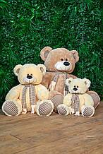 Медведь плюшевый с шарфом Сеня 180 см цвет коричневый | Мишка плюшевый | Мишка от производителя