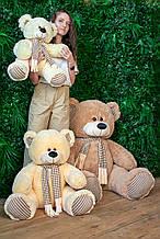 Мягкая игрушка Сеня с шарфом 180 см цвет персиковый | Плюшевый медведь | Мягкая игрушка от производителя