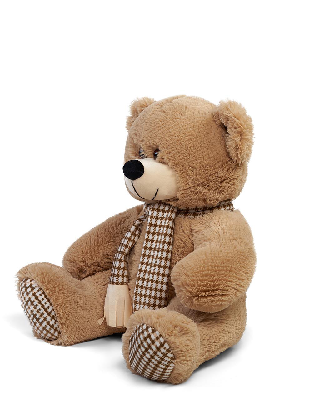 Мягкая игрушка медведь плюшевый с шарфом Сеня 250 см цвет коричневый   Мишка плюшевый   Мишка от производителя