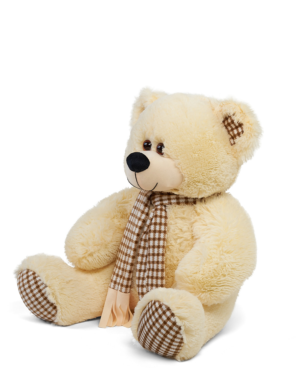 Плюшевый мишка Сеня с шарфом 180 см цвет персиковый   Плюшевый медведь   Мягкая игрушка от производителя