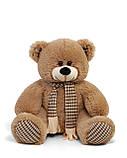 Плюшевый мишка Сеня с шарфом 180 см цвет персиковый   Плюшевый медведь   Мягкая игрушка от производителя, фото 4