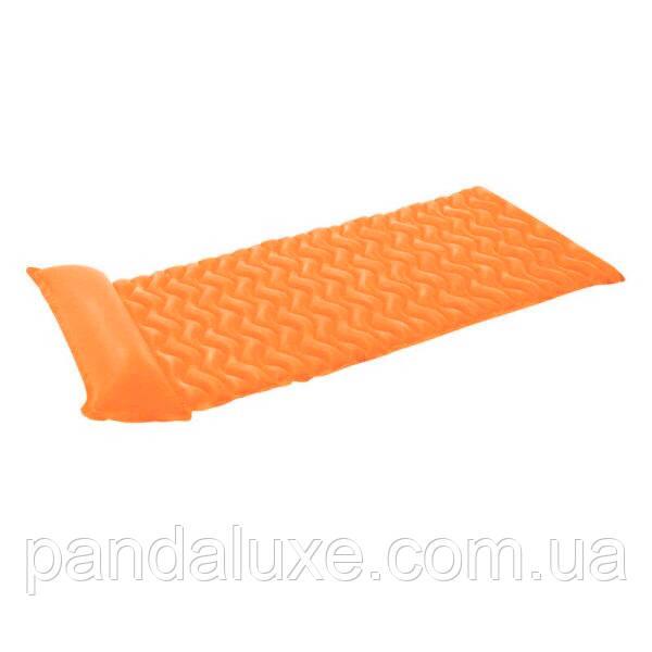 Надувний матрац для плавання intex 58807 з подушкою (Помаранчевий)