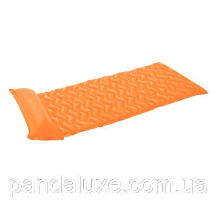 Надувний матрац для плавання intex 58807 з подушкою (Помаранчевий), фото 2