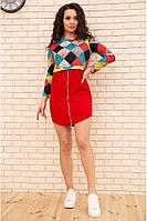 Платье мини с геометрическим принтом цвет Красный 167R1805