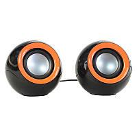 Портативная акустика 2.0 GREENWAVE SA-235, black-orange