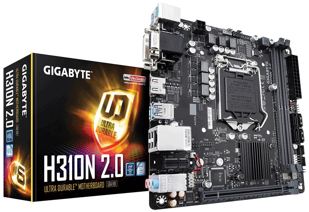 Материнська плата Gigabyte H310N 2.0 (s1151, Intel H310, PCI-Ex16)