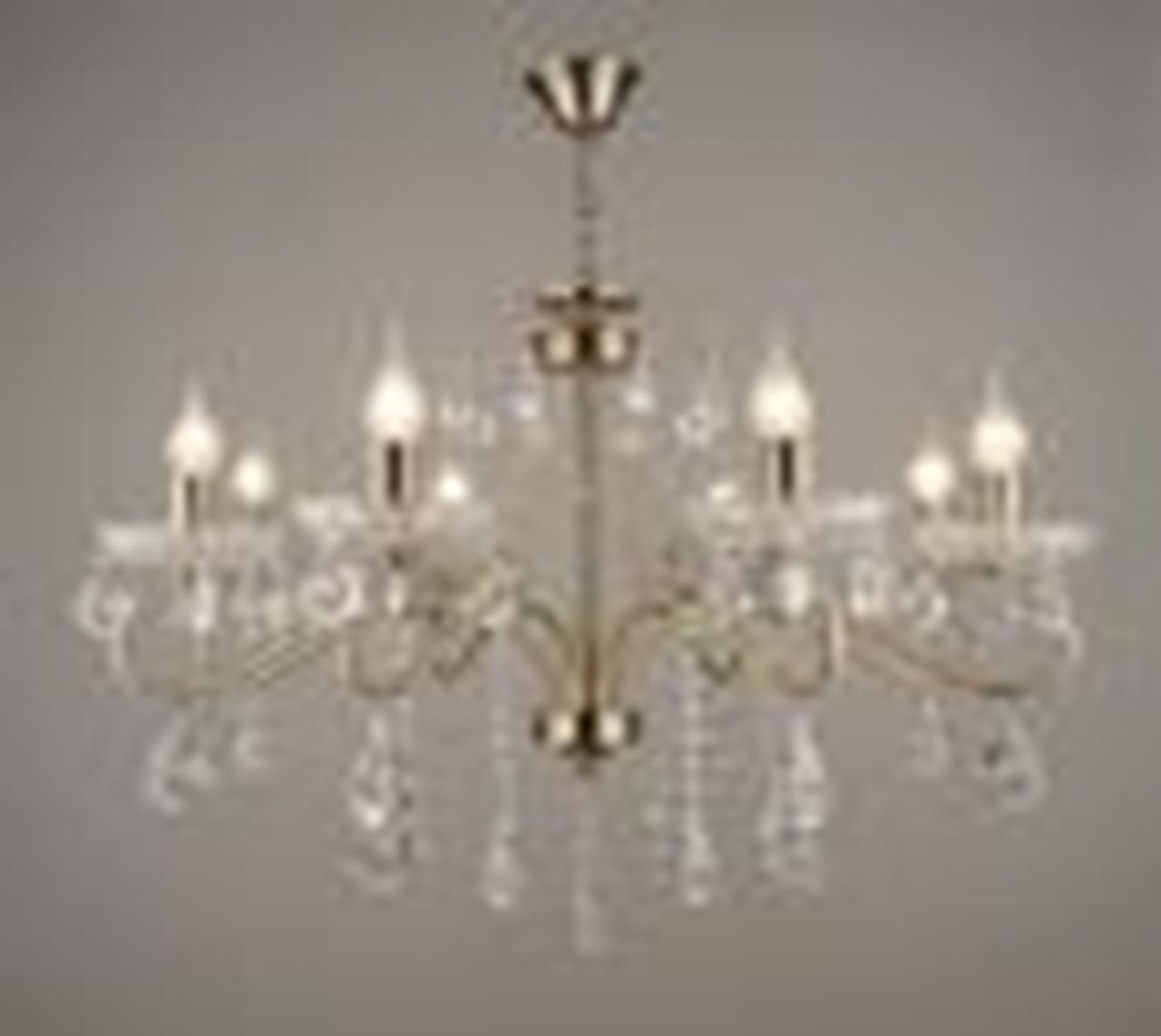 Люстра підвісна, кришталь, свічки 3-C1360/8(8 ламп)