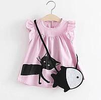 Детское платье Cat на девочку 6 мес - 9 мес / 74 см