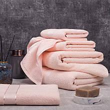 Рушник махровий AISHA (Узбекистан) 40*70 ніжно-рожеве
