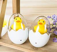 Светодиодный светильник - ночник для детской комнаты. Уточка в яйце.