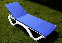 Матрац для шезлонга 1860*550*30 мм, однотонний, синій, фото 1