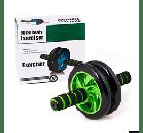 Гимнастическое спортивное колесо Double wheel Abs health abdomen round | Тренажер-ролик для мышц, фото 4