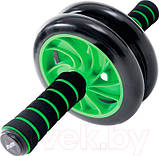 Гімнастичне спортивне фітнес колесо Double wheel Abs health abdomen round | Тренажер-ролик для м'язів, фото 6