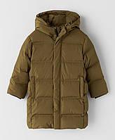 Зимний удлиненный пуховик для мальчика Zara Испания Размер 128