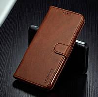 Кожаный чехол книжка для Xiaomi Redmi Note 9s / Note 9 Pro с визитницей (Разные цвета)