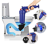 Пневматический вантуз, очиститель канализации высокого давления Toilet dredge GUN BLUE, фото 2