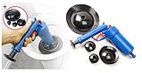 Пневматический вантуз, очиститель канализации высокого давления Toilet dredge GUN BLUE, фото 4