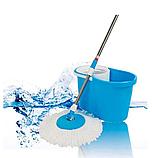 Универсальная швабра с отжимом-центрифугой и ведром Easy Mop, фото 3
