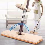 Швабра ледащо для швидкого прибирання з віджимом Spin Mop 360 з мікрофіброю, фото 2