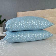 Набір подушок блакитний вензель