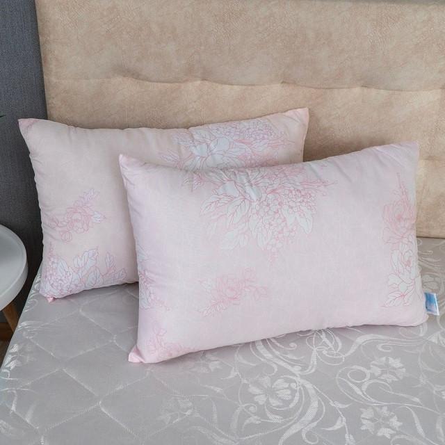 Набір подушок квіти на рожевому