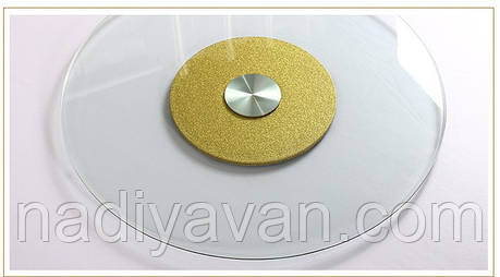 Стол поворотный круг 80см*135мм, обеденный стол без ножек центр золото, фото 2