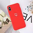 Силіконовий чохол USLION для Apple iPhone X / XS з сердечками фіолетовий, фото 2
