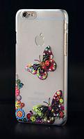 Чехол для iphone 6 рельефный со стразами - Бабочка Красная