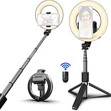 Кольцевая лампа с моноподом L07 пульт дистанционного управления