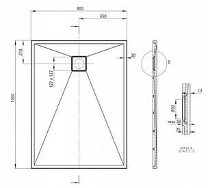 Піддон для душу  Deante Correo KQR S43B 120 см x 90 см, фото 2
